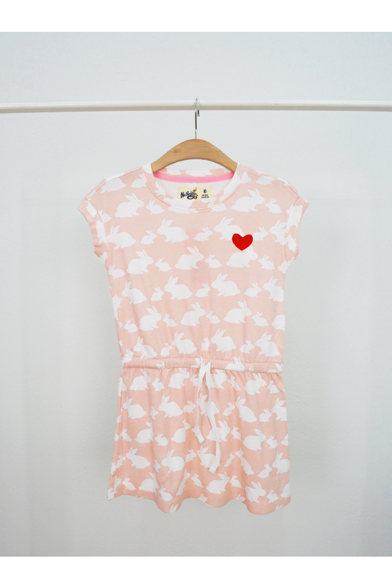 Rabbit pattern dress - Pink