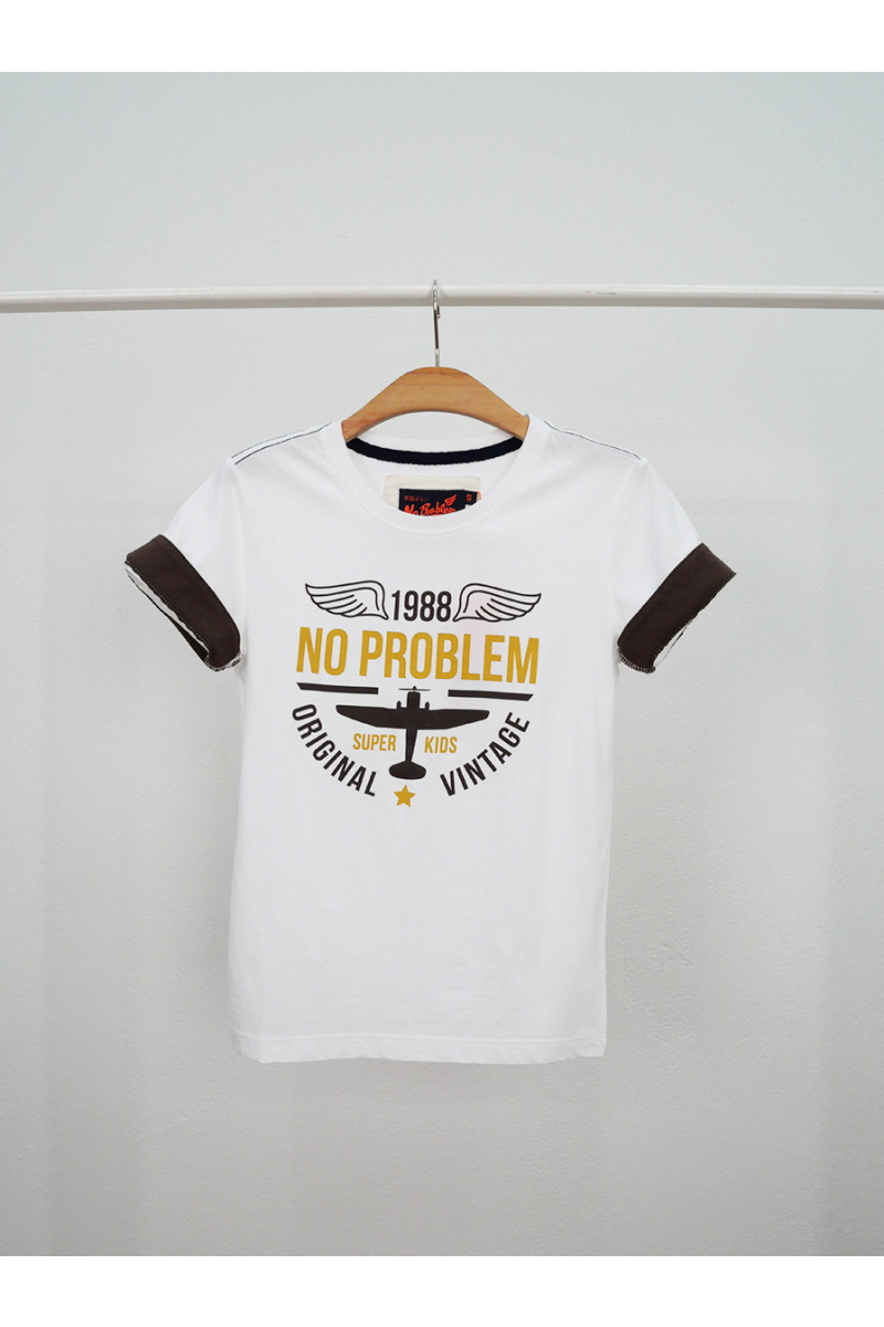 T-shirt / ORIGINAL NO PROBLEM - White