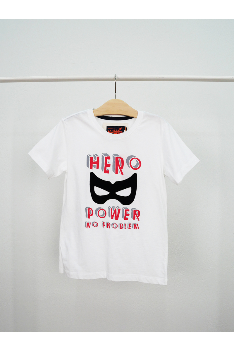 T-shirt / HERO POWER - White