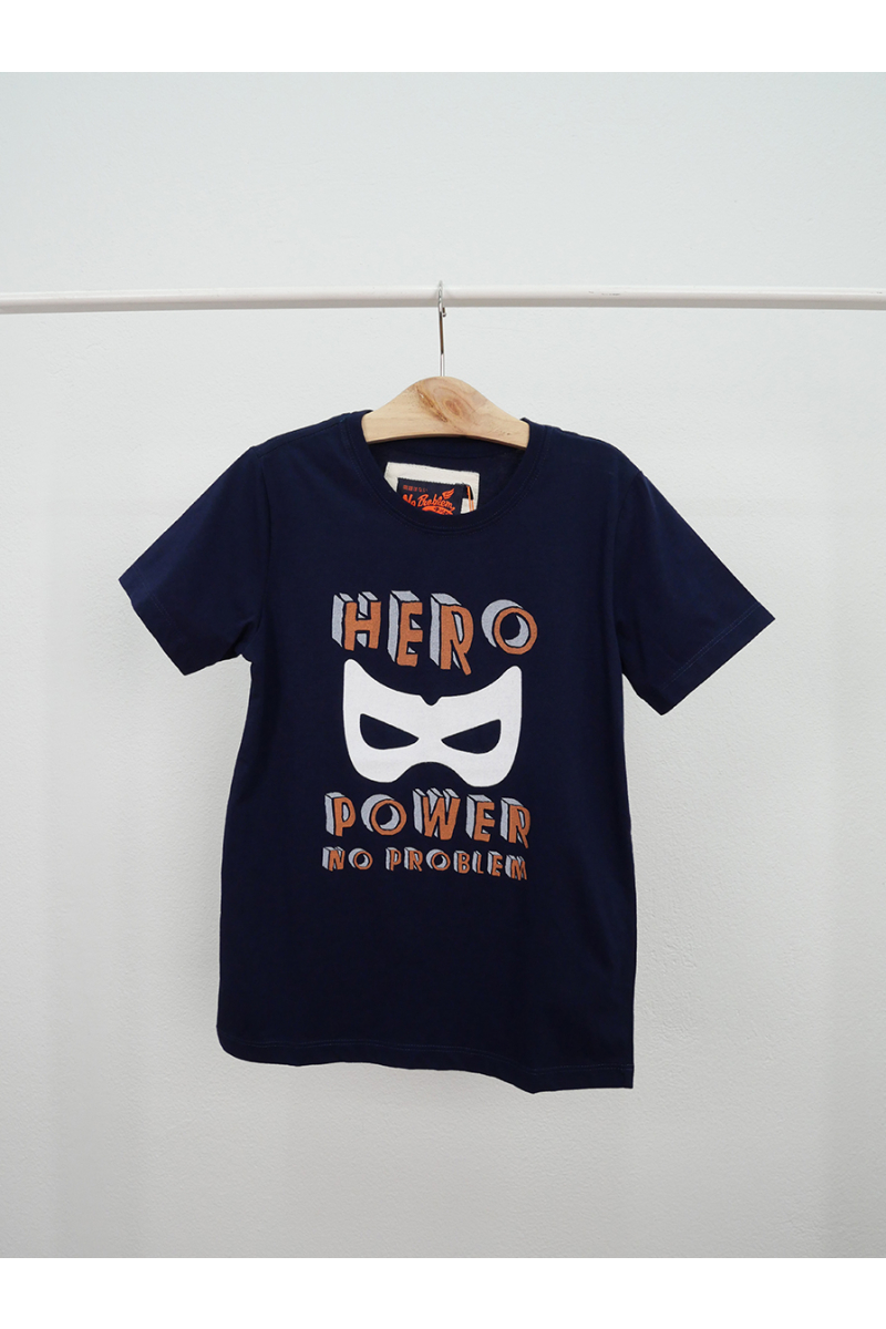 T-shirt / HERO POWER - Navy
