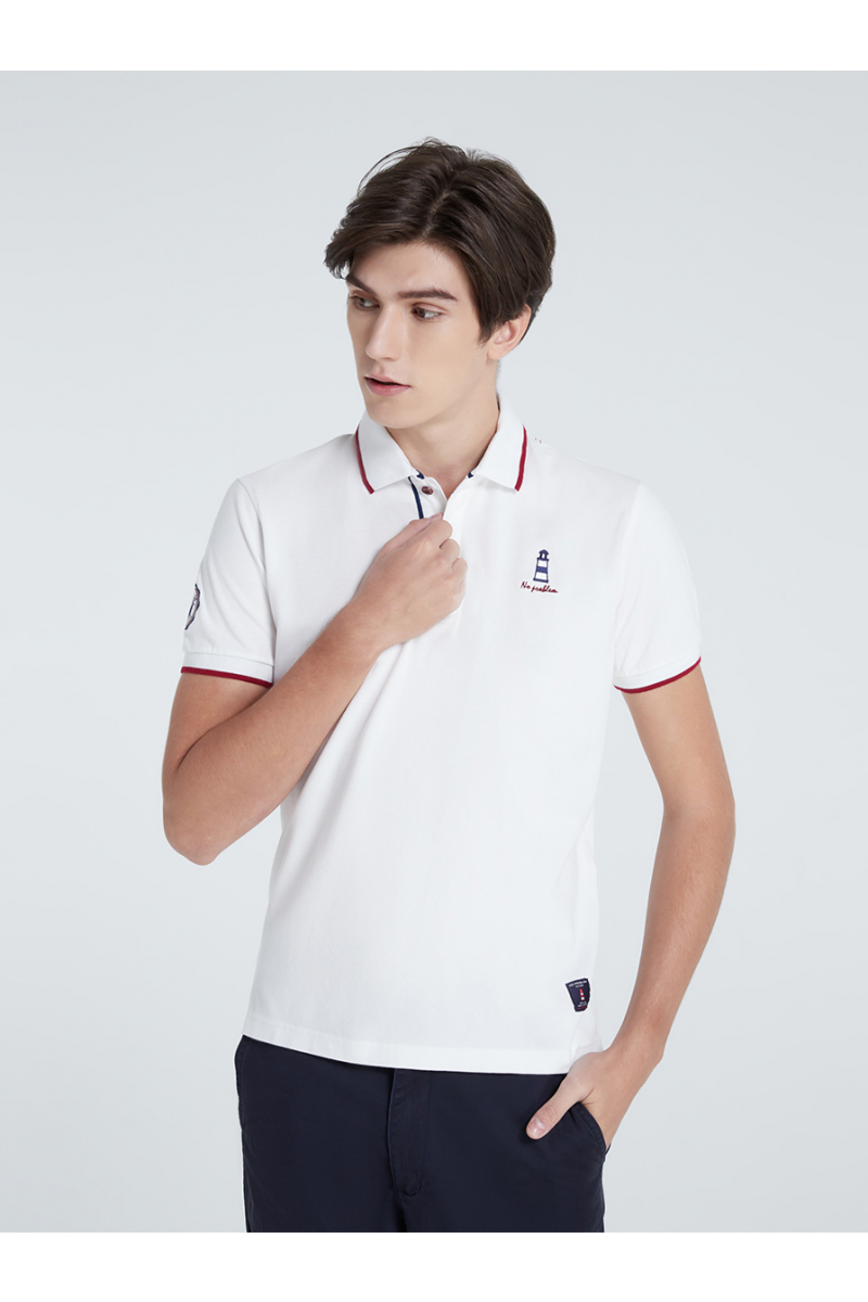 LIGHTHOUSE CASUAL POLOS - WHITE