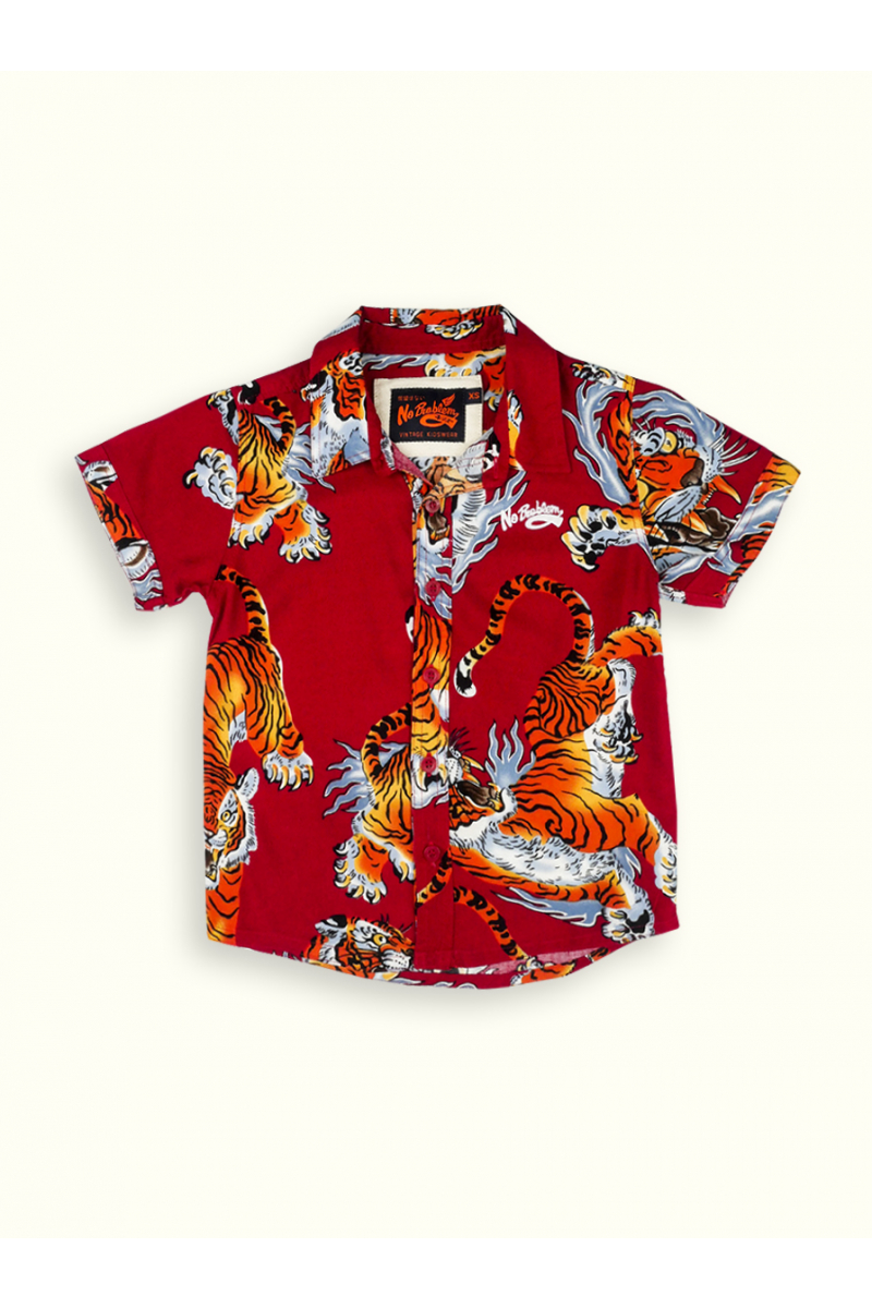 COOL PATTERNED SHIRT - RED TIGER