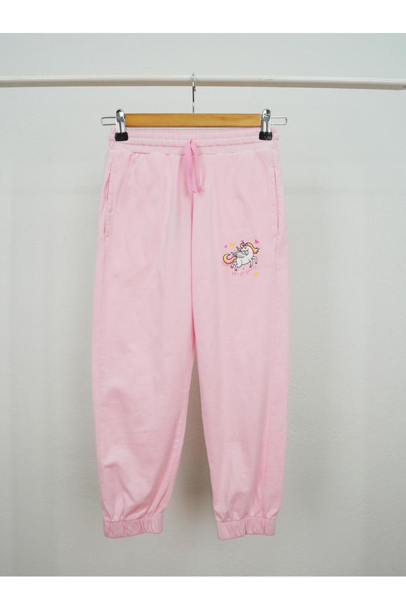 Unicorn print pants - Pink
