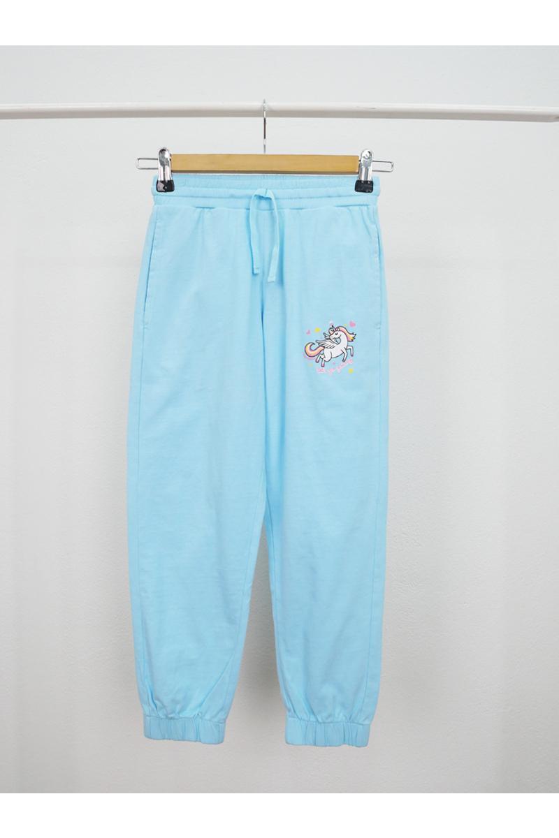 Unicorn print pants - Blue