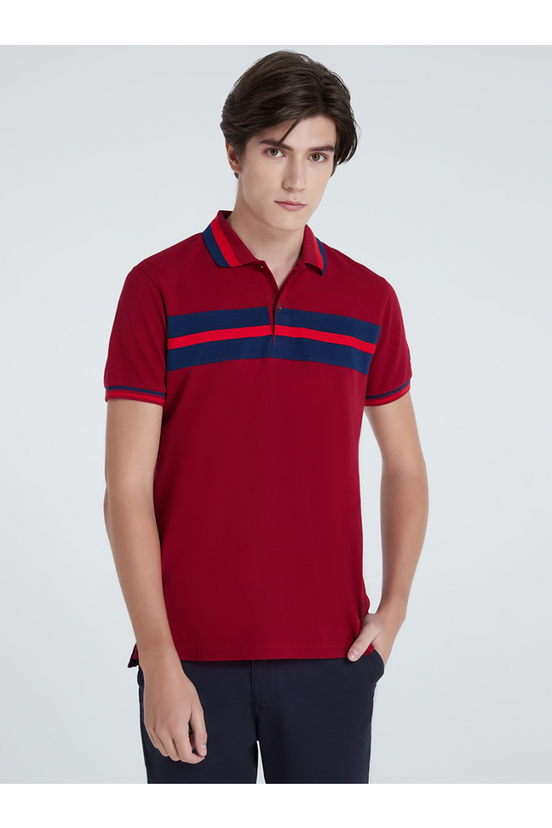 COLORS BLOCK POLOS - LAVA RED