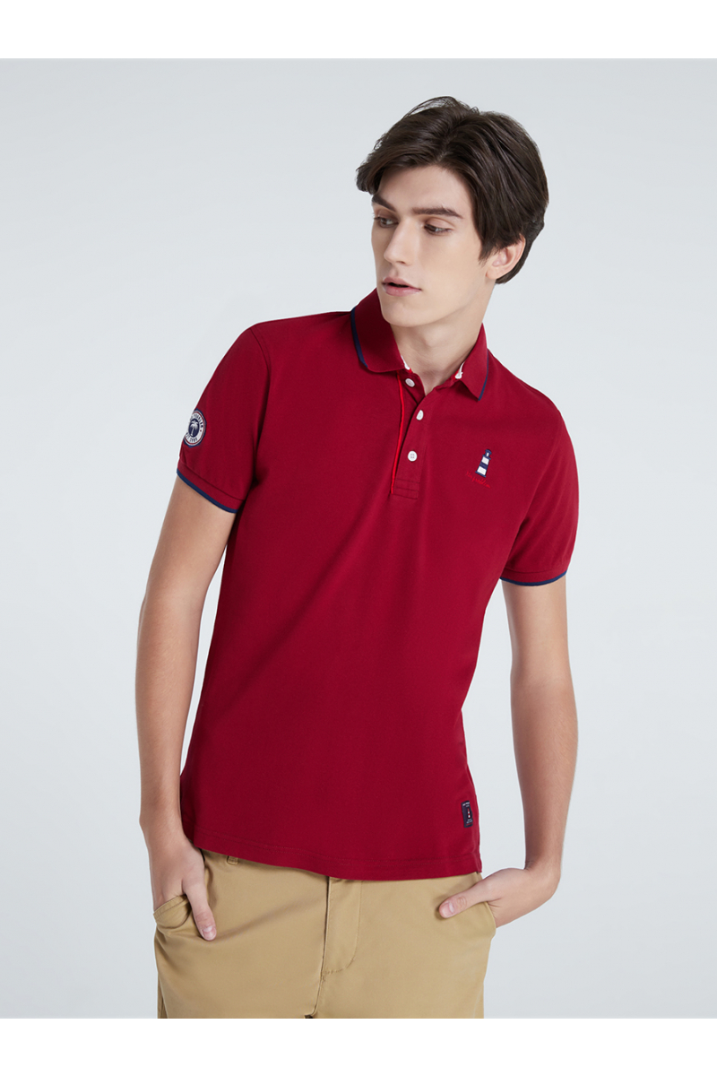 LIGHTHOUSE CASUAL POLOS - LAVA RED