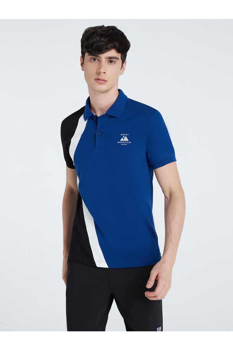 MOUNTAIN EMBROIDERY POLOS - WHALE BLUE