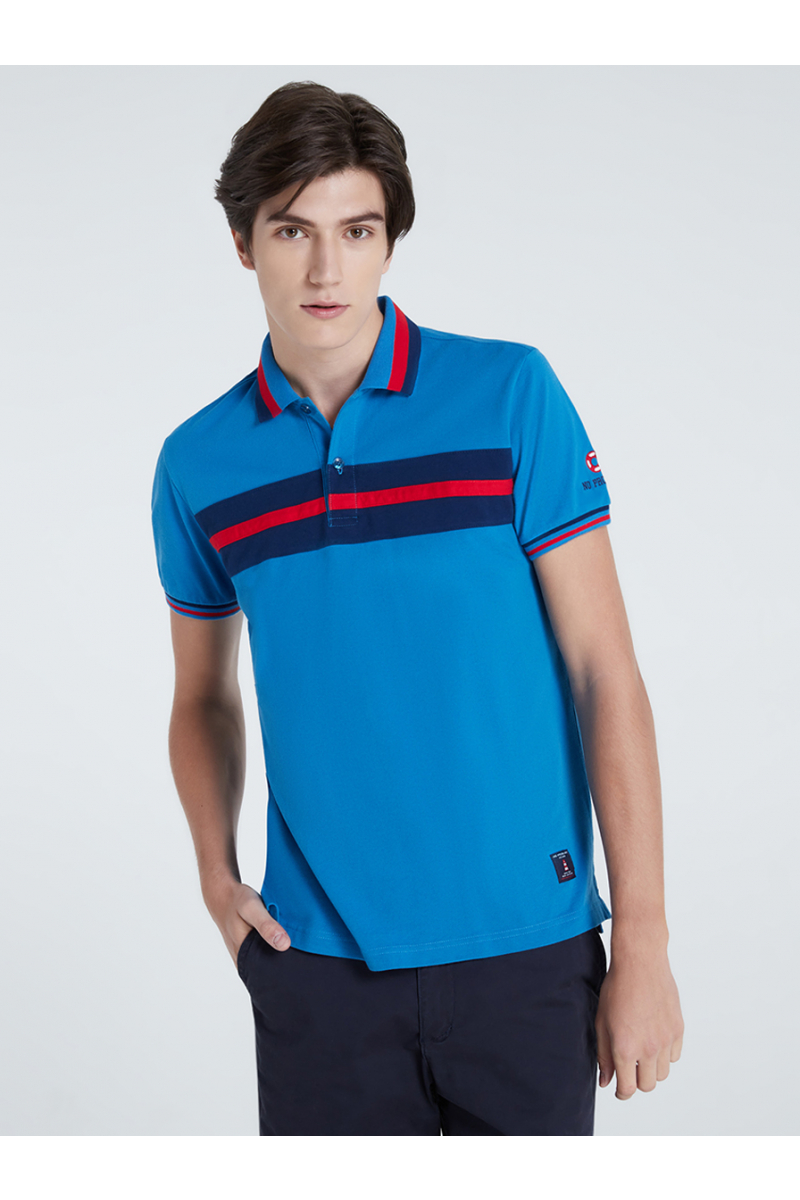 COLORS BLOCK POLOS - PACIFIC BLUE