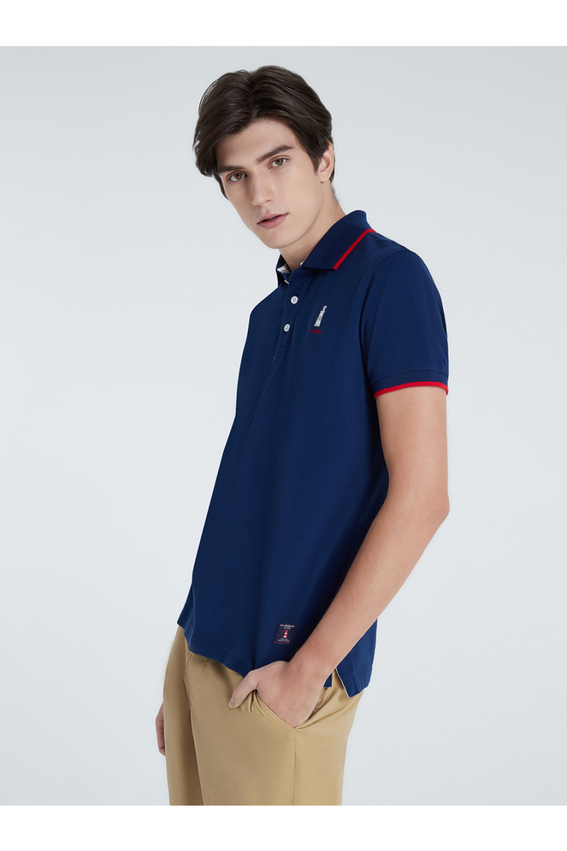 LIGHTHOUSE CASUAL POLOS - NIGHTSEA BLUE
