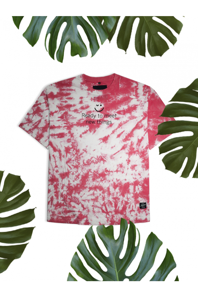 TIE-DYE PRINT T-SHIRT - RED