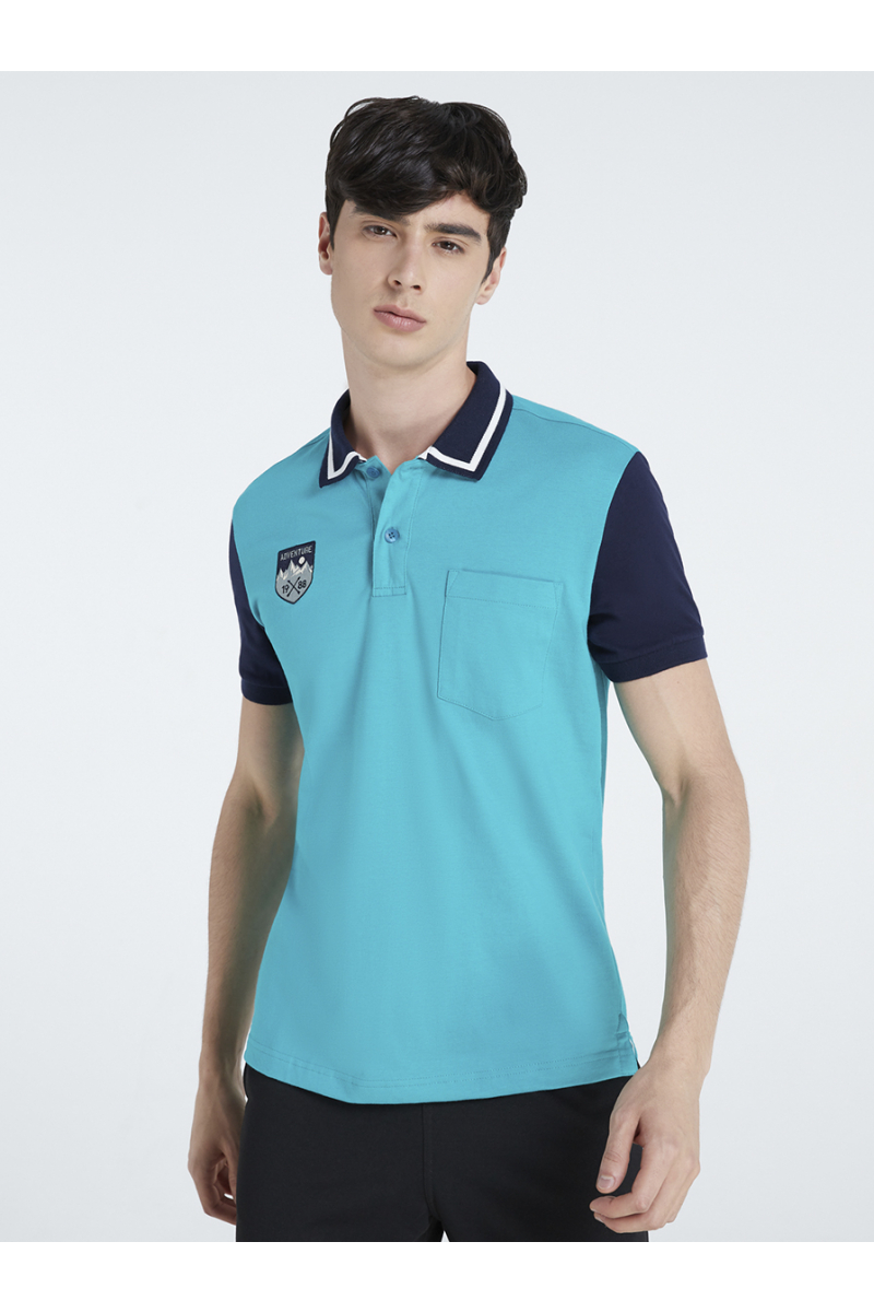 ADVENTURE EMBROIDERY POLOS - TURQUOISE GREEN