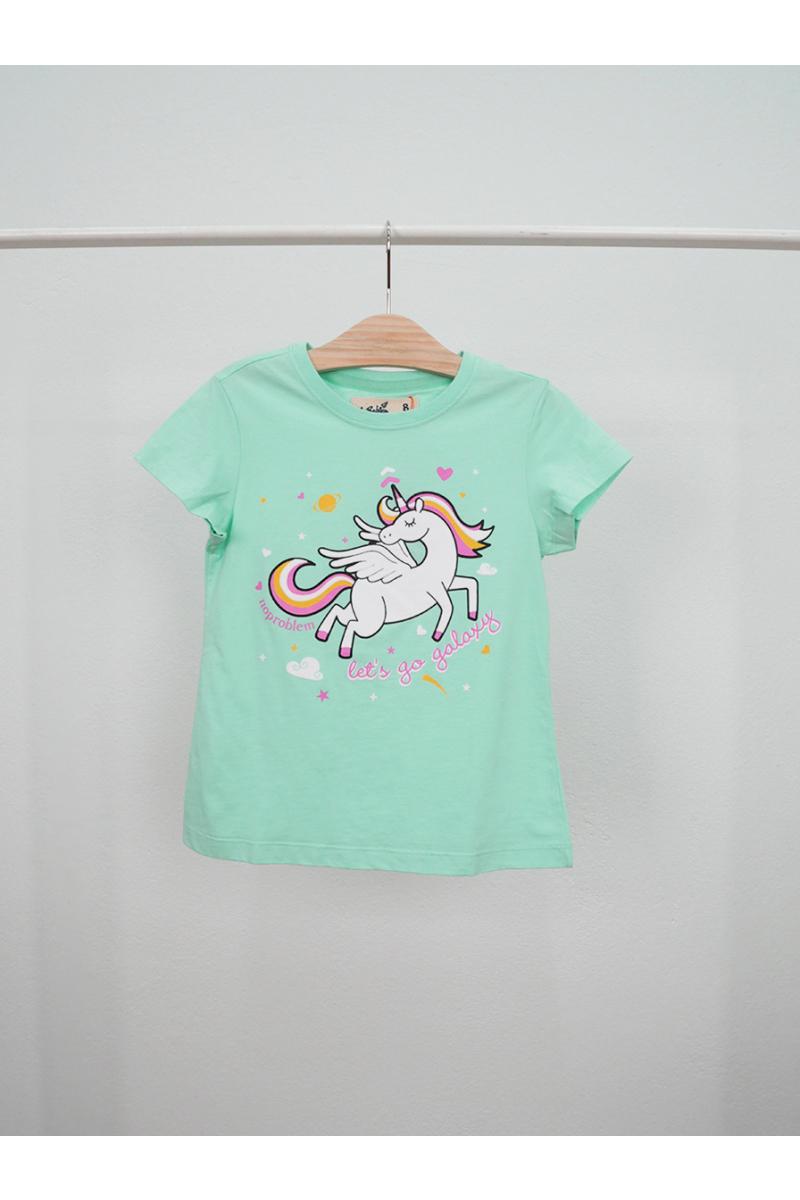 Unicorn print t-shirt - Green