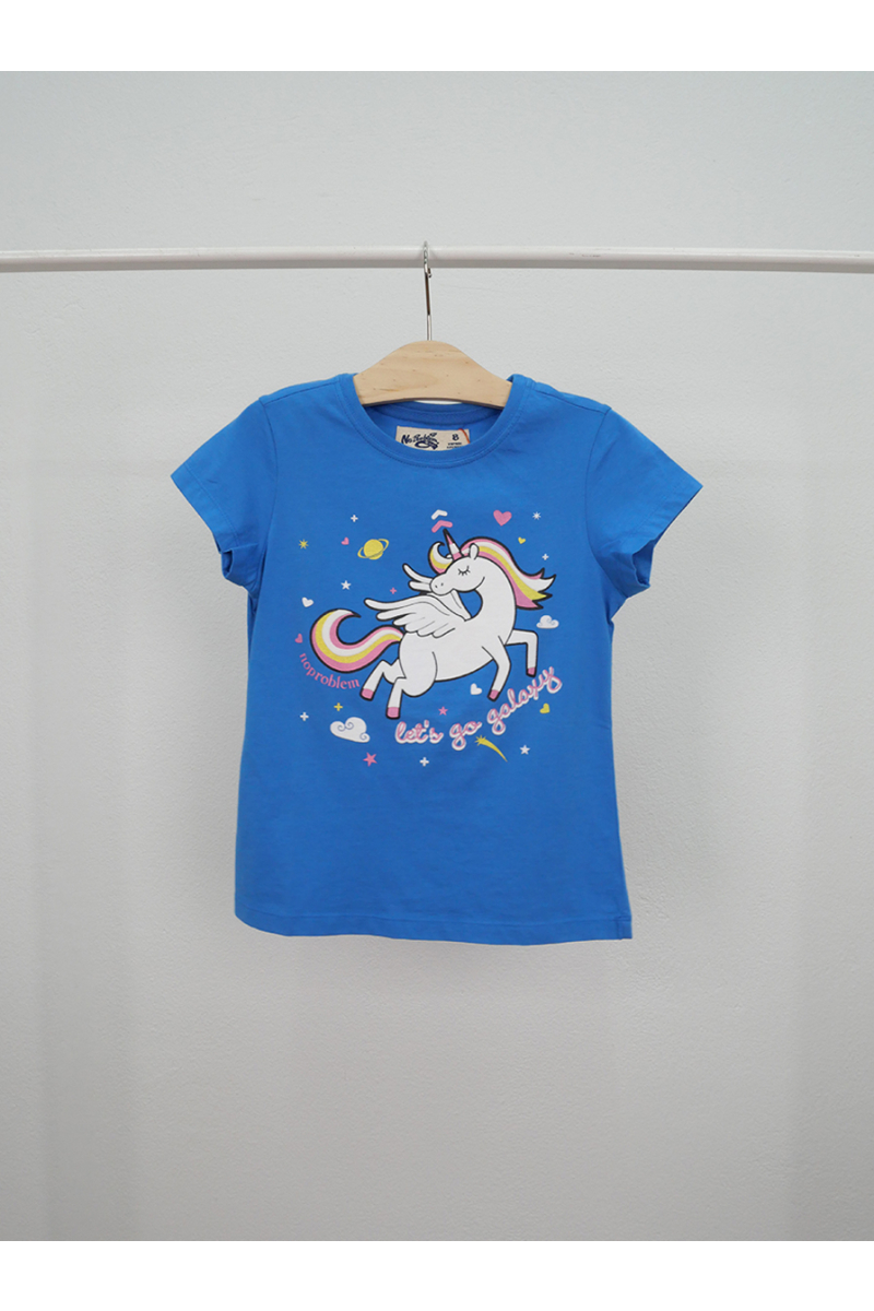 Unicorn print t-shirt - Blue