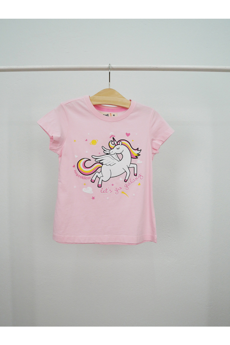 Unicorn print t-shirt - Pink