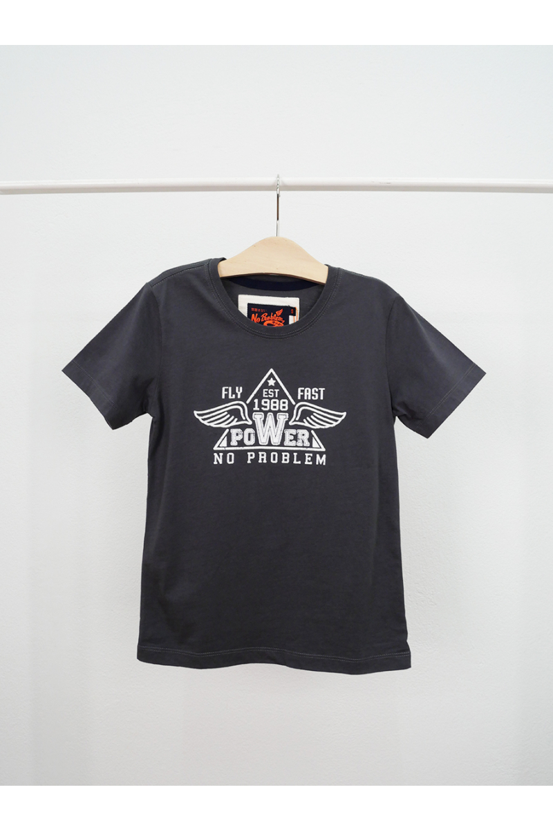 T-shirt / FLY FAST POWER - Grey