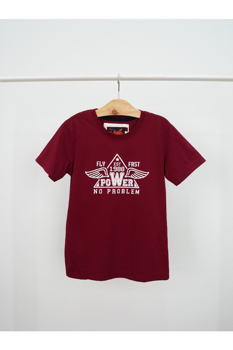 T-shirt / FLY FAST POWER - Red