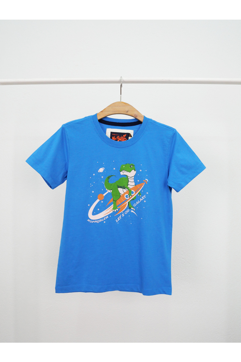 T-shirt / Dinosaur adventure in space - Blue