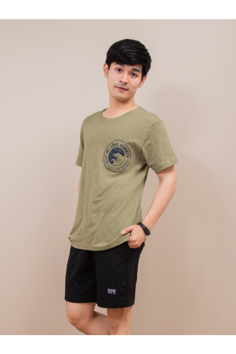 WE LOVE SUMMER T-SHIRT - Olive Green