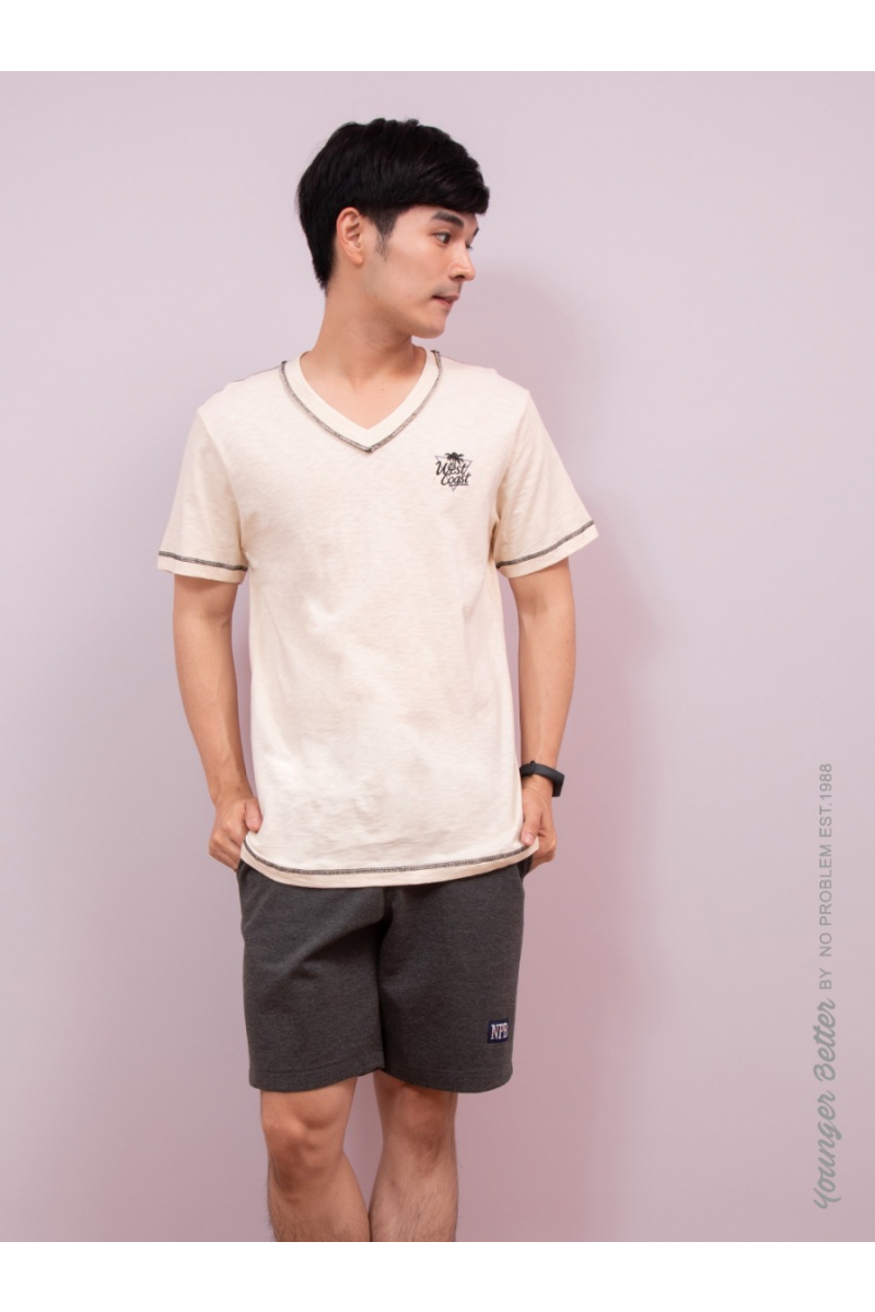 West Coast T-SHIRT-YOUNG STYLE - Cream