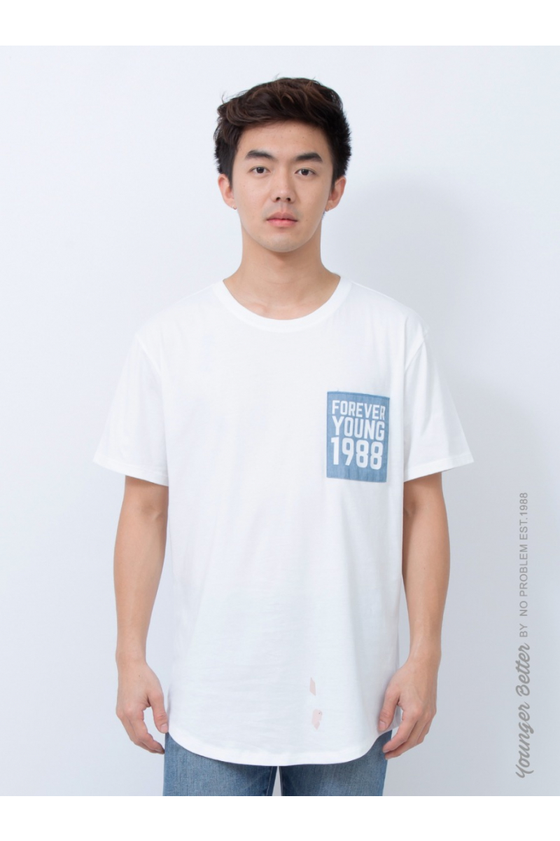 Oversize T-shirt with pocket - White